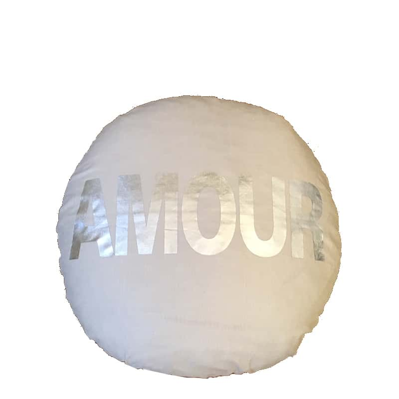 coussin Amour rond